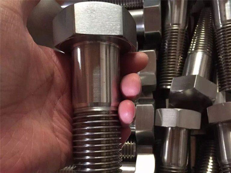 incoloy 825 en 2.4858 vlekvrye staal bout skroef bevestiging inconel718 en2.4668
