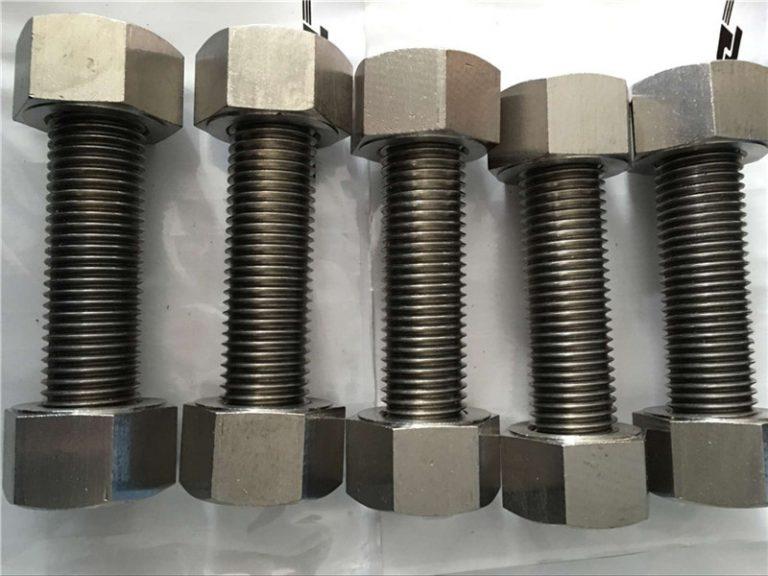 nikkellegering 400 en2.4360 volledig draadstaaf met moere-bevestiging