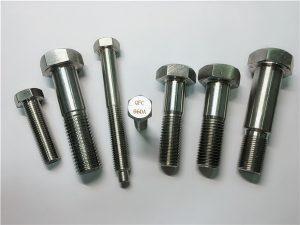 No.25-Incoloy a286 zeskantboute 1.4980 a286 hegstukke gh2132 roestvrye staal hardeware masjien skroef bevestigings
