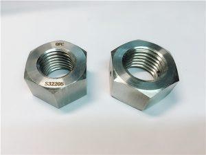 No.76 Duplex 2205 F53 1.4410 S32750 vlekvrye staal bevestigingsmiddels swaar seskantmoer