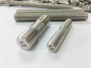 No.80-duplex 2205 S32205 2507 S32750 1.4410 hoë kwaliteit hardeware bevestiging hout skroefdraad anker