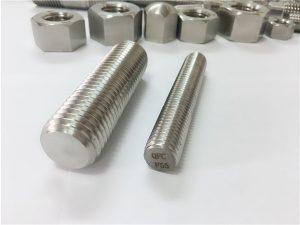 No.81-F55 Zeron100-vlekvrye staal-bevestigingsmiddels, vol draadstang S32760