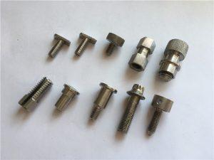 aangepaste hoë noukeurigheid nie-standaard skroef, roestvrye staal cnc bewerk skroef