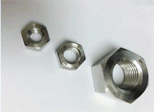Duplex 2205 / F55 / 1.4501 / S32760 vlekvrye staal bevestigingsmiddels swaar sekskantmoer M20