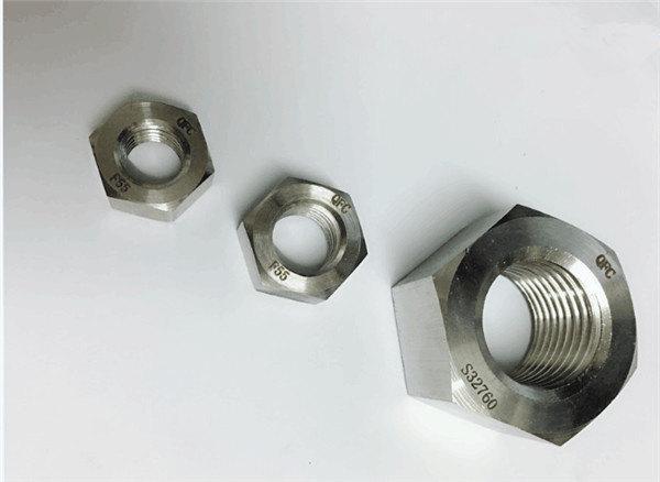 duplex 2205 / f55 / 1.4501 / s32760 vlekvrye staal hegstukke swaar seskantmoer m20